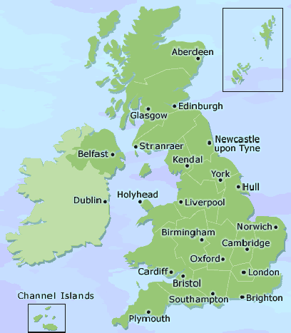 Map Of England And Wales With Cities.Great Britain Cities Www Picturesso Com